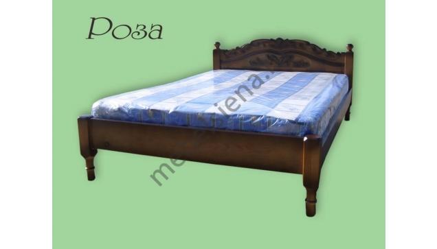 Деревянная кровать Роза (резьба)