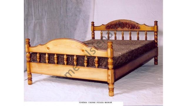 Двуспальная кровать Точенка Глория резьба