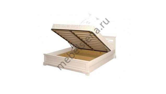 Кровать Лира белая с подъёмным механизмом