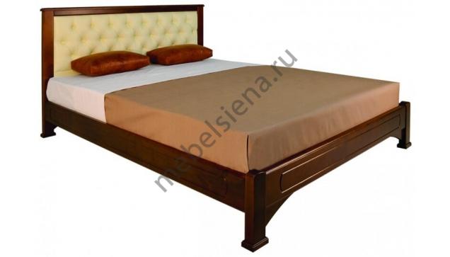 Двуспальная кровать Омега вставка прямая