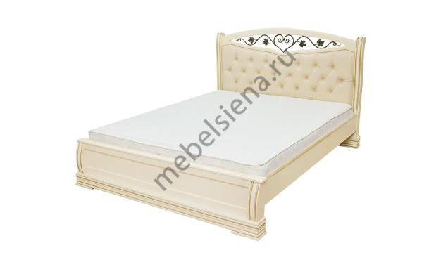 Двуспальная кровать Сиена вставка ковка