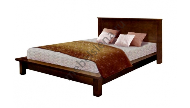 Двуспальная кровать из массива сосны Ева