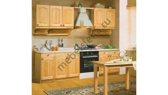 Деревянный кухонный гарнитур компакт